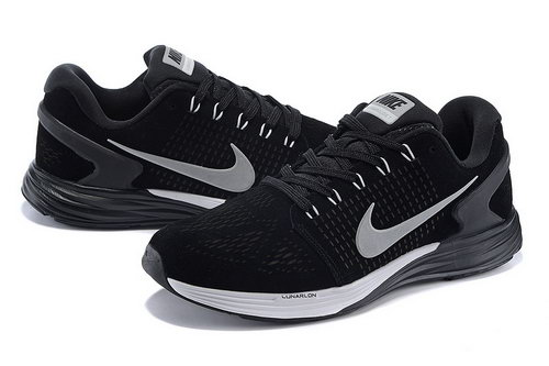 Mens Nike Lunarglide 7 Black & Grey