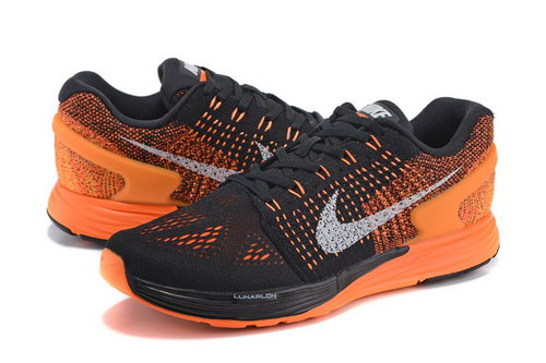 Mens Nike Lunarglide 7 Black & Orange Factory Store