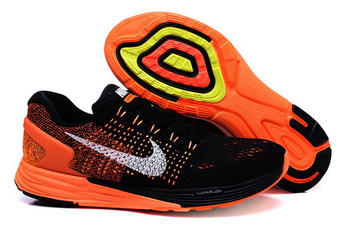 Mens Nike Lunarglide 7 Black Orange Ireland