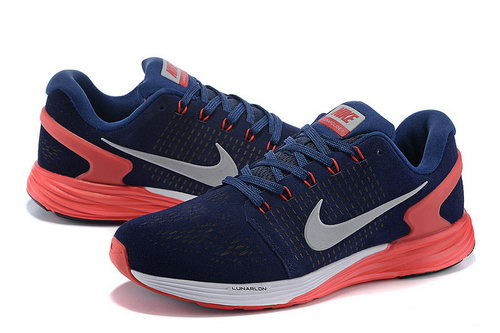 Mens Nike Lunarglide 7 Dark Blue & Red Greece
