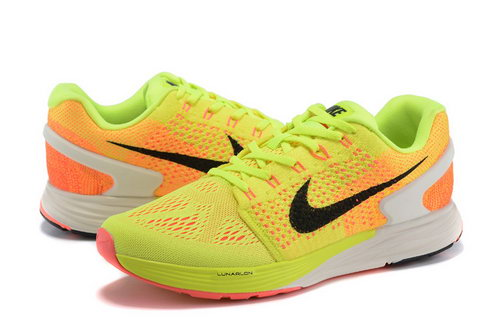 Mens Nike Lunarglide 7 Fluorescent Yellow & Orange Hong Kong