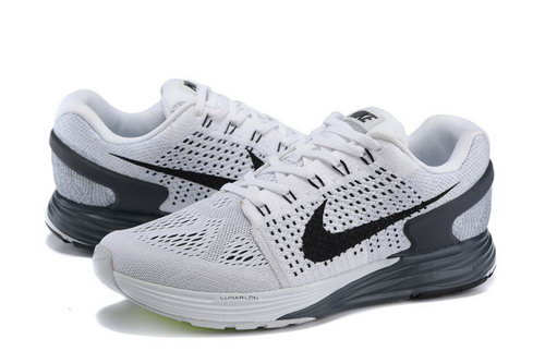 Mens Nike Lunarglide 7 White & Black Online Shop