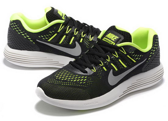 Mens Nike Lunarglide 8 Black Fluorescent Green 40-45 Spain