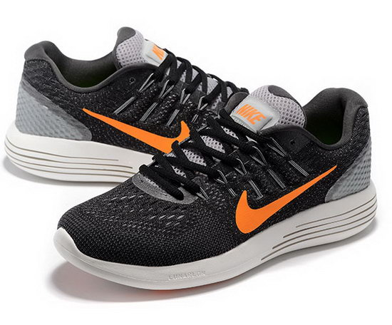Mens Nike Lunarglide 8 Black Grey Orange 40-45 Inexpensive