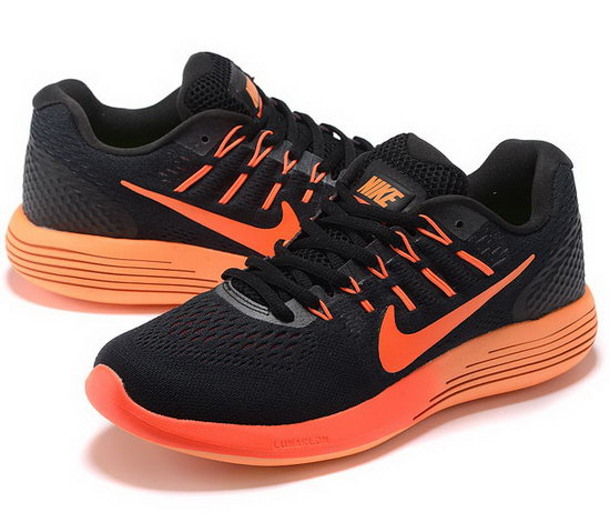 Mens Nike Lunarglide 8 Black Orange 40-45 New Zealand