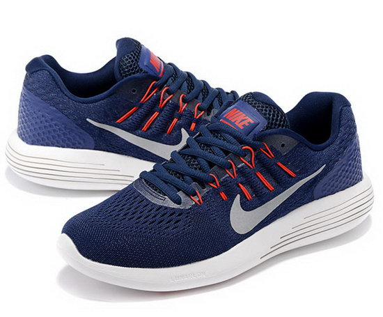 Mens Nike Lunarglide 8 Dark Blue Red 40-45 Coupon