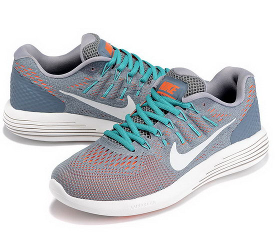 Mens Nike Lunarglide 8 Grey Orange White 40-45 Uk