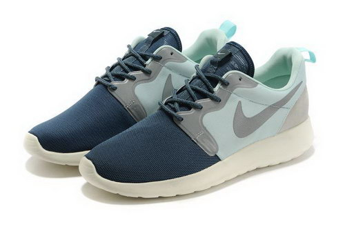 Mens Nike Roshe Run Navy Light Green Poland