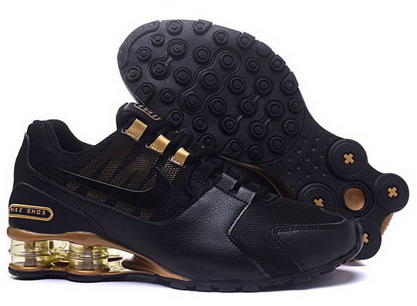 Mens Nike Shox Avenue Black Gold 40-46 Inexpensive