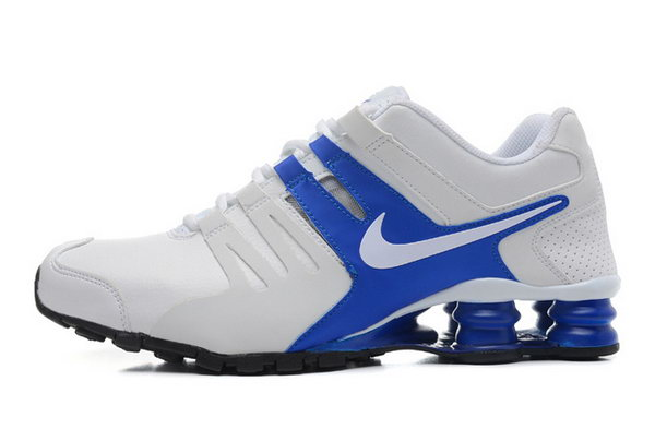 Mens Nike Shox Current White Blue 40-46 Clearance