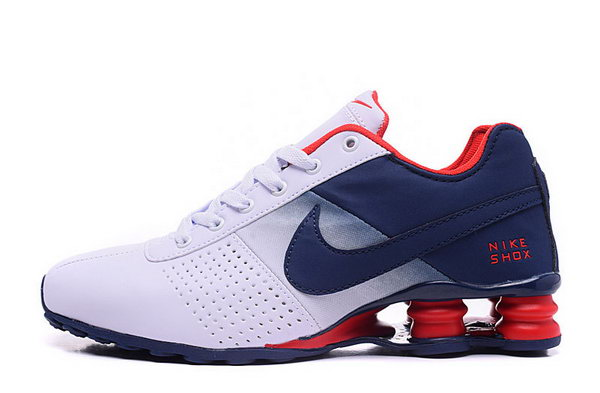 Mens Nike Shox Deliver White Blue Red 40-46 Outlet Online