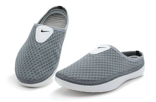 Mens Nike Trainers Solarsoft Mule Slide Sandals Grey Hong Kong