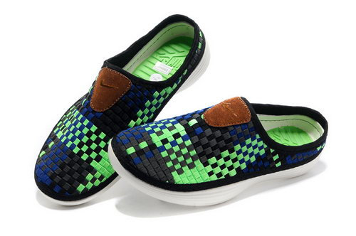 Mens Nike Trainers Solarsoft Mule Woven Premium Sport Green Navy Black Sandals Online Shop