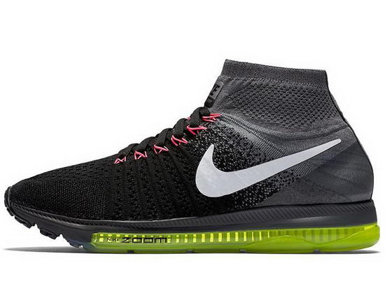 Mens Nike Zoom All Out Flyknit Black Grey Czech