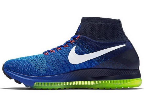 Mens Nike Zoom All Out Flyknit Blue Low Cost