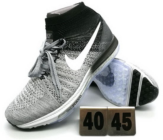 Mens Nike Zoom All Out Flyknit Grey Black Cheap