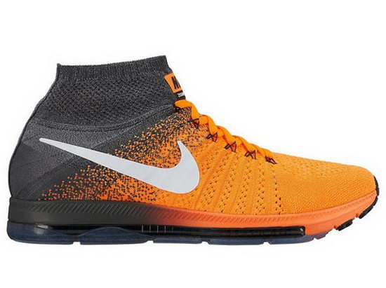 Mens Nike Zoom All Out Flyknit Orang Grey Discount Code