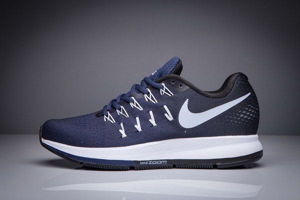 Mens Nike Zoom Pegasus 33 Blue Black White 36-40 Low Price