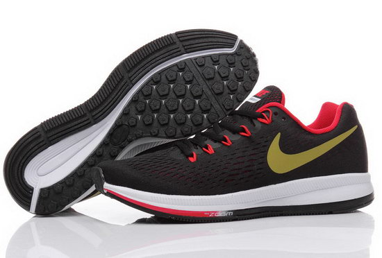 Mens Nike Zoom Pegasus 34 Black Red Gold 40-44 Review