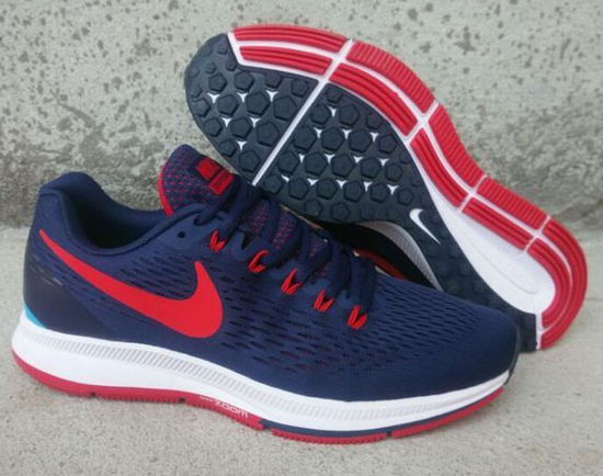 Mens Nike Zoom Pegasus 34 Dark Blue Red 40-45 Low Price