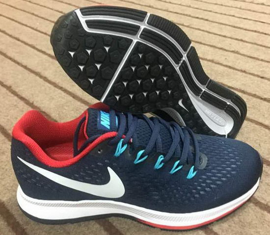 Mens Nike Zoom Pegasus 34 Dark Blue Red 40-44 Italy