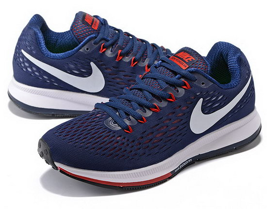 Mens Nike Zoom Pegasus 34 Dark Blue Red 40-45 Coupon