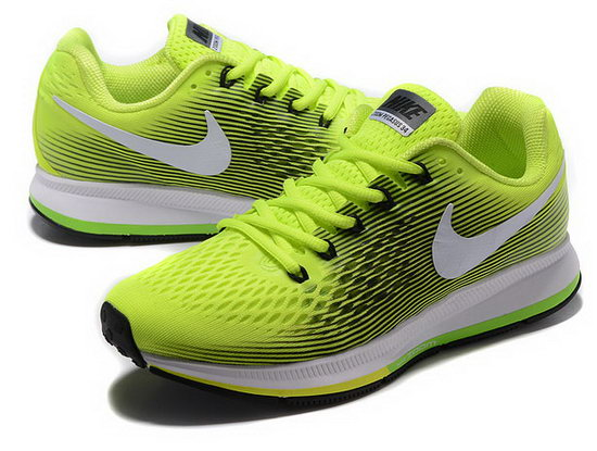 Mens Nike Zoom Pegasus 34 Fluorescent Green Black 40-45 Sweden