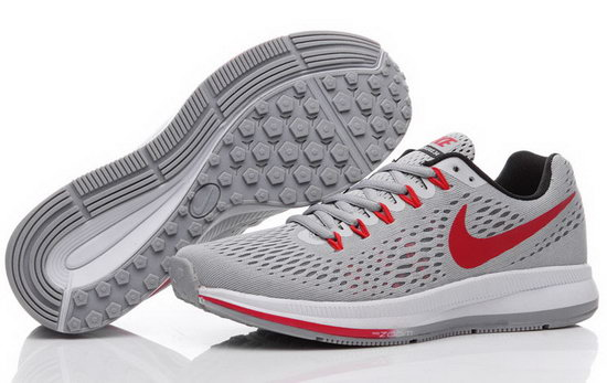 Mens Nike Zoom Pegasus 34 Grey Red 40-44 Uk