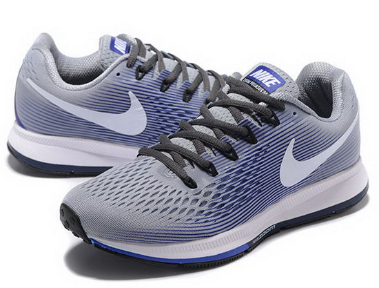 Mens Nike Zoom Pegasus 34 Light Grey Blue 40-45 Poland