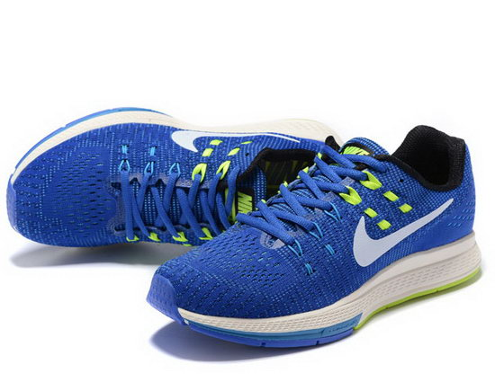 Mens Nike Zoom Structure 19 Blue White Green 40-44 Sale