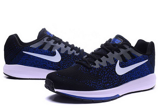 Mens Nike Zoom Structure 20black Blue White 40-45 Usa