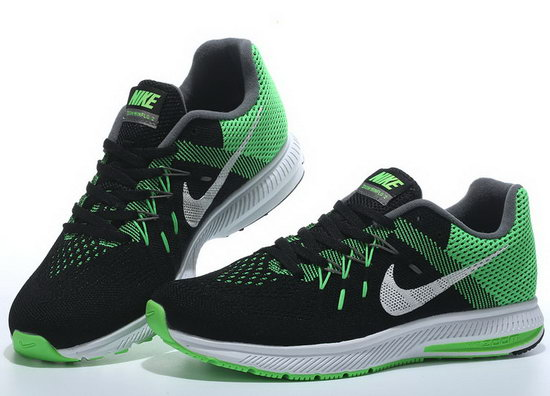 Mens Nike Zoom Winflo 2 Black Green 40-45 Korea