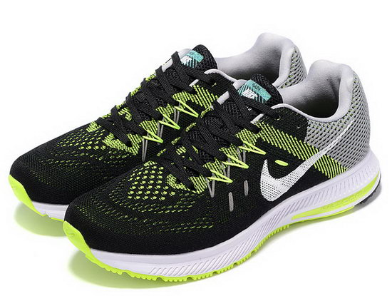 Mens Nike Zoom Winflo 2 Black Green White 40-45 Closeout