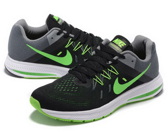 Mens Nike Zoom Winflo 2 Black Grey Green 40-45 Netherlands