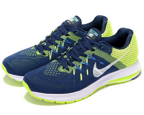 Mens Nike Zoom Winflo 2 Dark Blue Fluorescent Green 40-45 Outlet Online