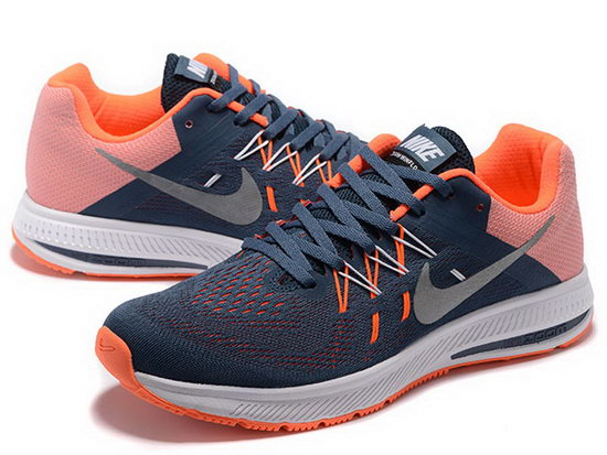 Mens Nike Zoom Winflo 2 Dark Blue Orange 40-45 China