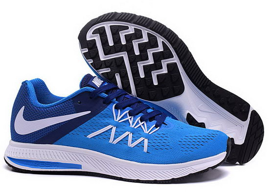 Mens Nike Zoom Winflo 3 Blue White 40-45 Sale