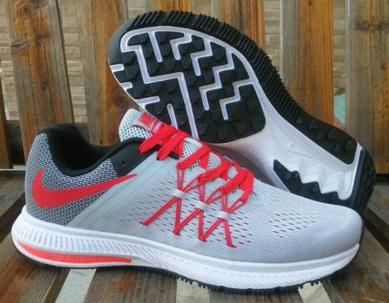 Mens Nike Zoom Winflo 3 Light Grey Red 40-45 Outlet Store
