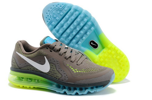 Mens Size Us7.5 9 10.5 11.5 Nike Air Max 2014 Green Blue Grey White Reduced