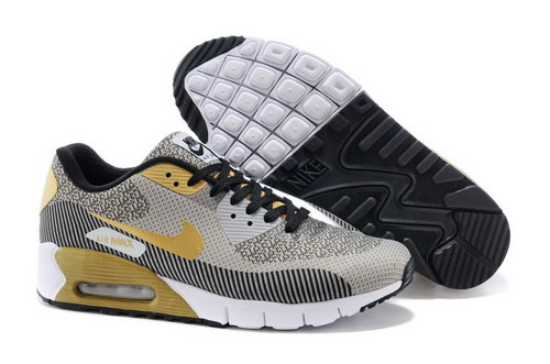 Nike Air Max 90 Jcrd Mens Shoes Light Gray Yellow Black Hot Clearance