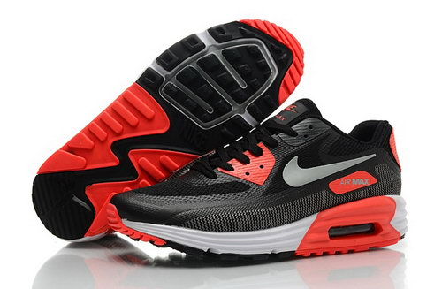 Nike Air Max Lunar 90 C3 0 Mens Shoes All Black Silver Orange Uk