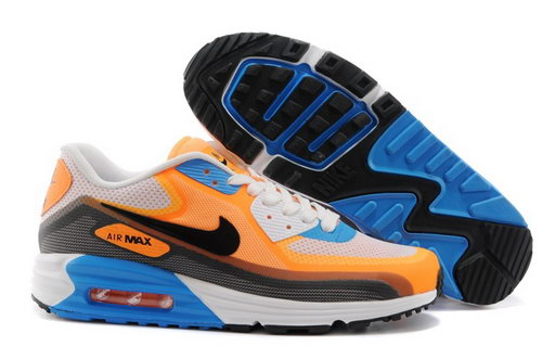 Nike Air Max Lunar 90 C3 0 Mens Shoes Light Orange Vlue Black Japan