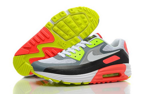 Nike Air Max Lunar 90 C3 0 Mens Shoes White Gray Orange Green Promo Code