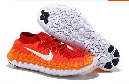 Nike Free Flyknit 3.0 Mens Shoes Orange White China