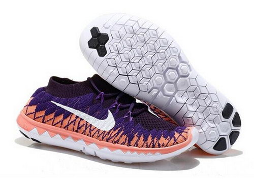 Nike Free Flyknit 3.0 Womens Shoes Sky Black Orange White Online