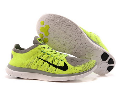 Nike Free Flyknit 4.0 Mens Shoes Bling Green Gray Norway