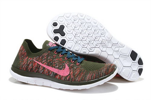 Nike Free Flyknit 4.0 Mens Shoes Brown Red Black Hot Review