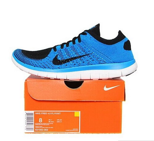 Nike Free Flyknit 4.0 Mens Shoes Sky Blue Black Sweden