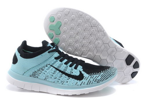 Nike Free Flyknit 4.0 Womens Shoes Light Blue Black Switzerland