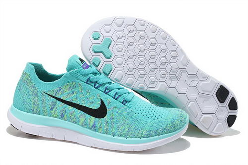 Nike Free Flyknit 4.0 Womens Shoes Light Green Black Hot For Sale